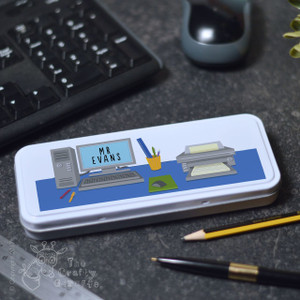 Personalised Computer Desk Pencil Tin