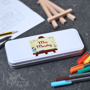 Personalised Art Easel Tin