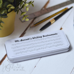 Personalised Music Pencil Tin
