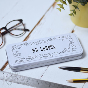 Personalised Maths Pencil Tin