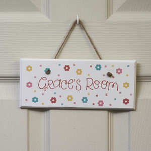 Personalised Flowers Sign