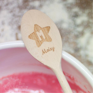 Personalised Star, Initial & Name Wooden Spoon