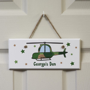 Personalised Helicopter Sign