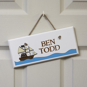 Personalised Pirate Ship Sign