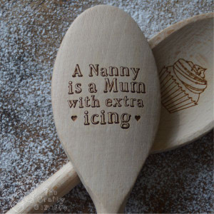 Personalised Wooden Spoon for Nana