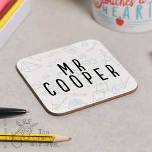 Personalised Maths Coaster