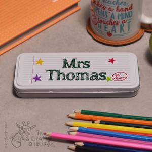 Personalised Teacher Pencil Tin