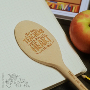 Personalised The best teachers teach from the heart Spoon