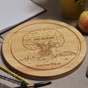 Personalised Apple Tree Round Board
