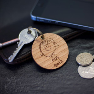 Personalised Child's Drawing Keyring x 3