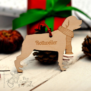 Personalised Rottweiler Decoration