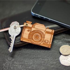Personalised Camera Keyring