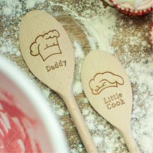 Personalised Pair of Chef hat spoons