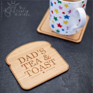 Personalised Toast Shaped Coaster