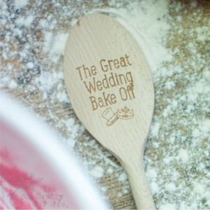 Personalised Wedding Bake Off Spoon