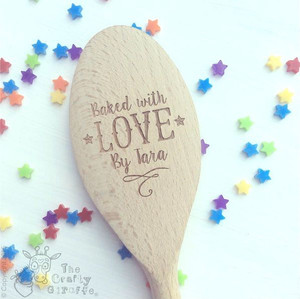 Personalised Baked with love by... Spoon