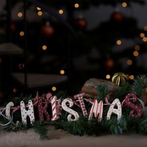 Wooden Garland Decoration 'Christmas'