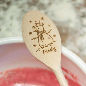 Personalised Snowman Spoon
