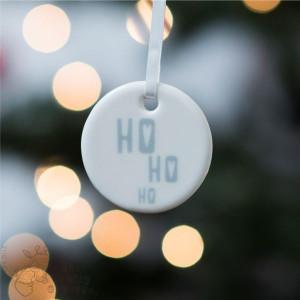 Ho Ho Ho - Ceramic Hanging Decoration
