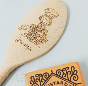 Personalised Character Wooden Spoon - Grandpa