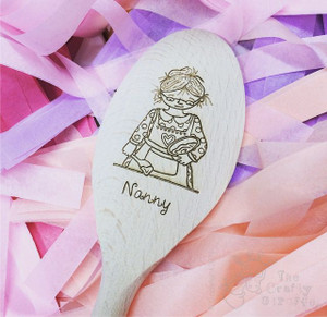 Personalised Character Wooden Spoon - Nanny