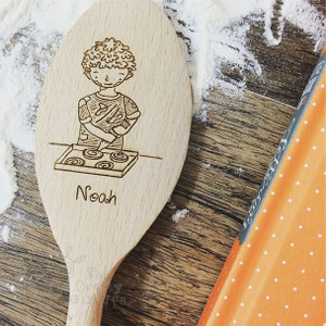 Personalised Character Wooden Spoon - Noah