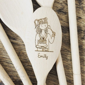 Personalised Character Wooden Spoon - Emily