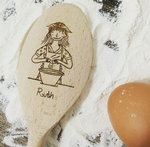 Personalised Character Wooden Spoon - Ruth