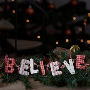 Wooden Garland Decoration 'Believe'
