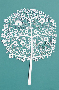 Paper Cut - Family Tree - Personalised