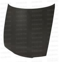 Seibon Carbon OEM-style carbon fiber hood for 1995-1996 Nissan 240SX