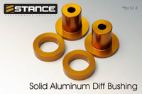 STANCE Aluminum Solid Differential Bushing Set - 95-98 Nissan 240sx