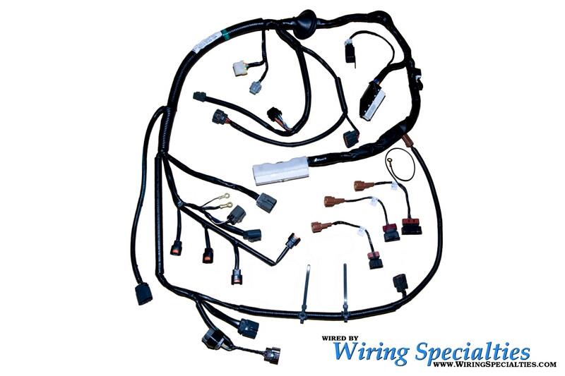 wiring specialties pre-made s14 sr20det zenki/kouki into s14 240sx engine  harness