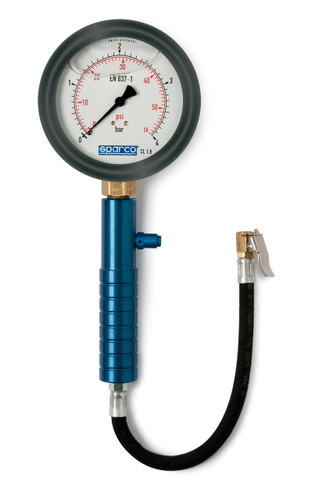 SPARCO Air Pressure Gauge BAR/PSI (29424101C)