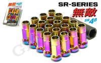 Muteki SR48 Extended Lug Nuts 12x1.5 (for ARP Stud Conversion)