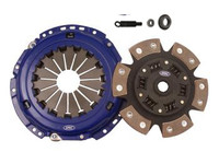 SPEC Stage 3 Clutch Kit - Chevrolet 5.7L LS1 Features a carbon semi-metallic 6 puck sprung hub disc that has been the leading puck clutch in drivability, life and torque capacity. This unit is designed for street and race cars that require an aggressive but streetable engagement and high torque capacity. The hub is double sprung with spring cover relieves for flexibility and heat treated components for strength and durability. Also available in 3 puck configuration. Great for street, drag, road racing, pulling, rallye and drift.  High clamp pressure plate Carbon-Graphite Friction Material High torque sprung hub and disc assembly Bearing and tool kit Torque Capacity: 832 Ft/Lbs