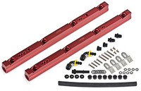 "BBK Aluminum Fuel Rail Kit - Chevrolet 5.7L LS1  Replace restrictive factory fuel rails with high-flow units. Designed to work with your existing or aftermarket intake manifold, these lightweight aluminum fuel rails are a must for any high-horsepower application. Each rail is CNC-machined to precise tolerances and anodized for maximum performance and longevity.   Note: This is a ""Kit"" that includes fittings and hardware for F-Body Camaro/Firebird, if using this rail in a different application, you will need custom hardware/fittings.  Made in the USA by BBK  Fits: Chevrolet 5.7L LS1"