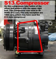 KA24DE AC Compressor to SR20DET Conversion Bracket/Kit