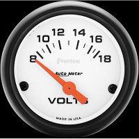 Auto Meter Phantom - Voltage Meter: 8-18 V