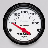 Auto Meter Phantom - Transmission Temperature Gauge: 100-250 Degrees FAHRENHEIT