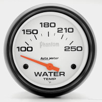 Auto Meter Phantom - Water Temperature Gauge 67mm: (100-250 Degrees) FAHRENHEIT