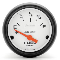 Auto Meter Phantom - Fuel Level Gauge: 0 Ohms/ 90 Ohms