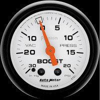 Auto Meter Phantom - Boost Gauge 20 PSI