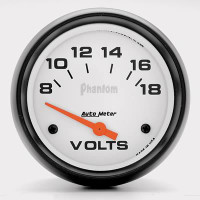 Auto Meter Phantom - Voltage Meter 67mm: 8-18 Volts