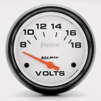Auto Meter Phantom - Voltage Meter 67mm: 8-18 Volts