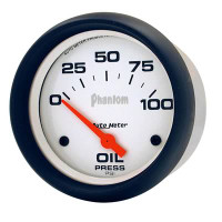 Auto Meter Phantom - Oil Pressure Gauge - Electrical 67mm