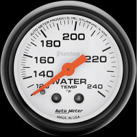 Auto Meter Phantom - Water Temperature Gauge - FAHRENHEIT (120-240 Degrees)