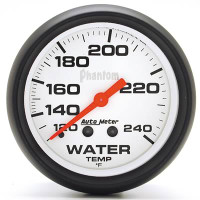 Auto Meter Phantom - Water Temperature Gauge 67 mm - FAHRENHEIT (120-240 Degrees)