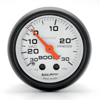 Auto Meter Phantom - Boost Gauge 30 PSI