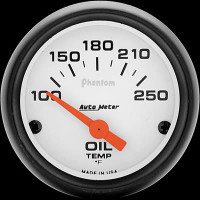 Auto Meter Phantom - Oil Temperature Gauge - FAHRENHEIT